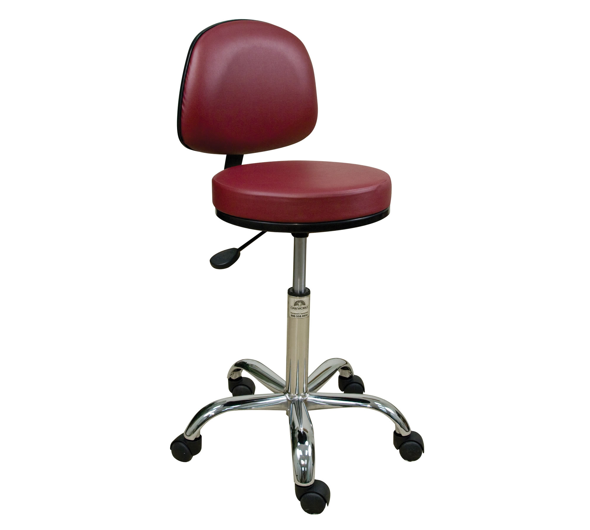 Professional Stool w Backrest